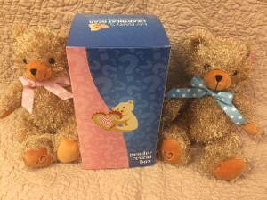 Gender Reveal Box Including Heart Beat Bear